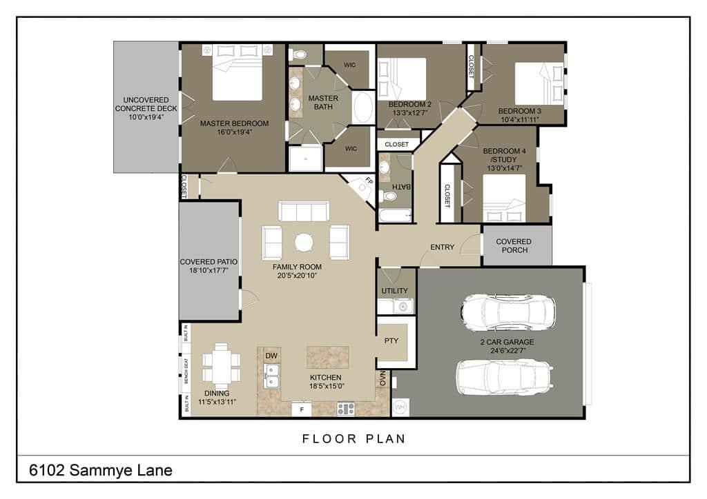 San Angelo Custom Home Builder - 6102 Sammye Ln, San Angelo TX 76904